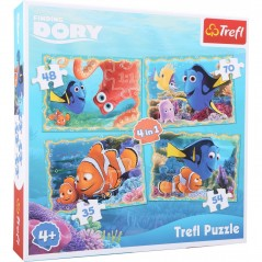 Decommissioned - Finding Dory Puzzle 4 in 1